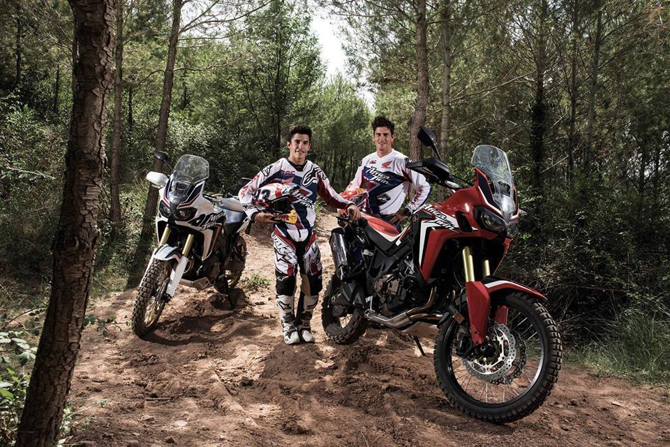 Márquez y Barreda ponen a prueba la nueva Honda Africa Twin