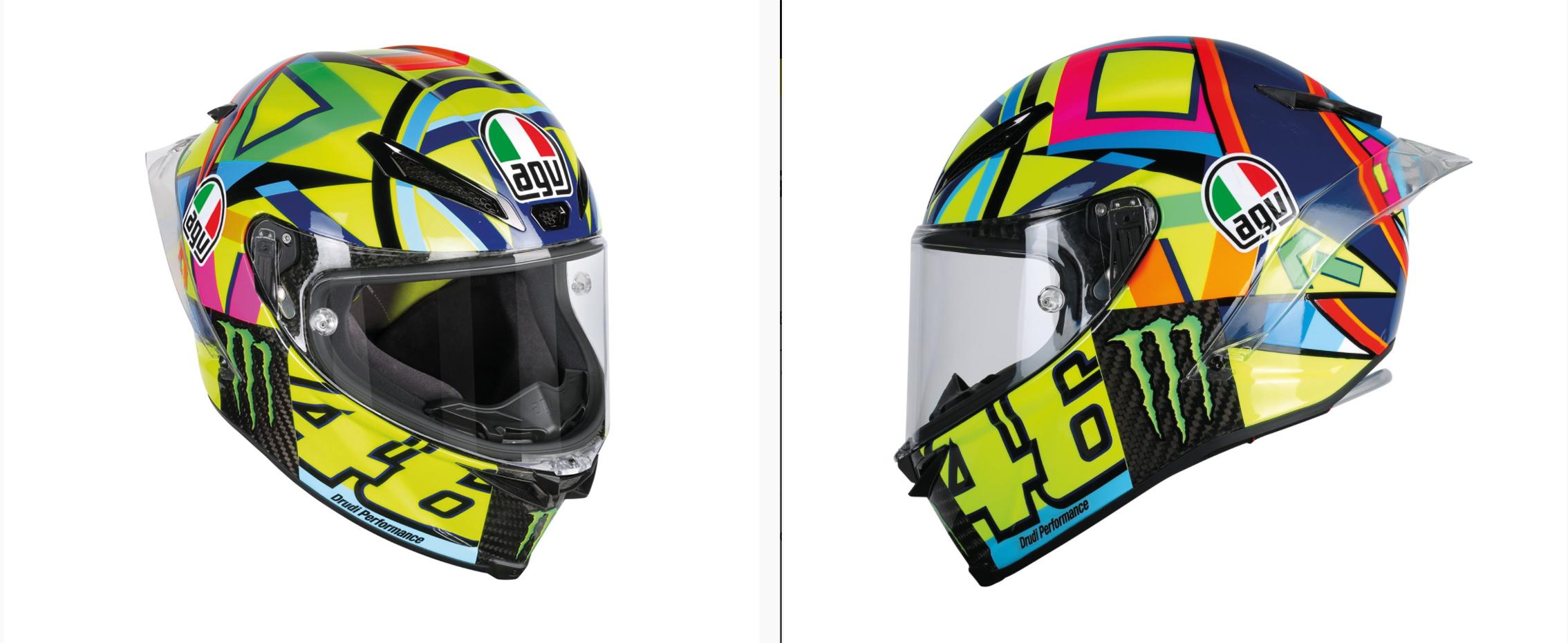 Casco de moto AGV Pista GP R Soleluna: ¿Quieres sentirte como Valentino Rossi?