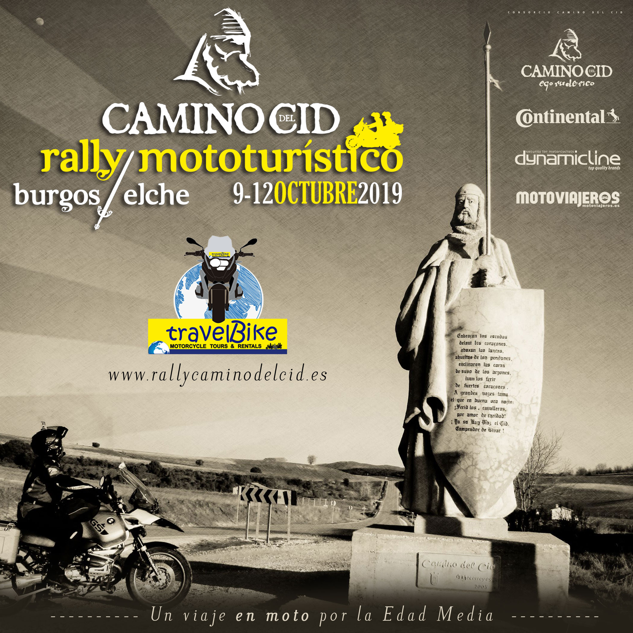 cartel rally mototuristico camino del cid 1