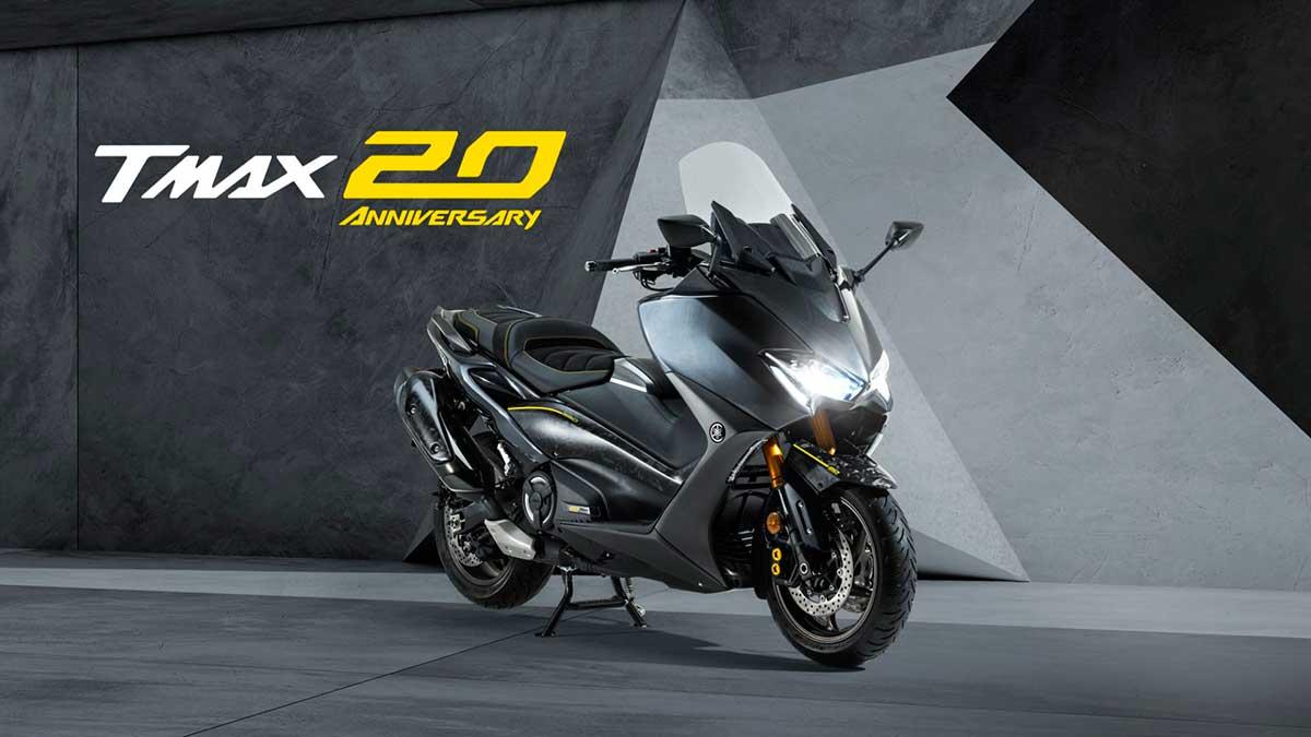 Yamaha TMAX 2021  20 Aniversario: homenaje a dos décadas de deportividad KO