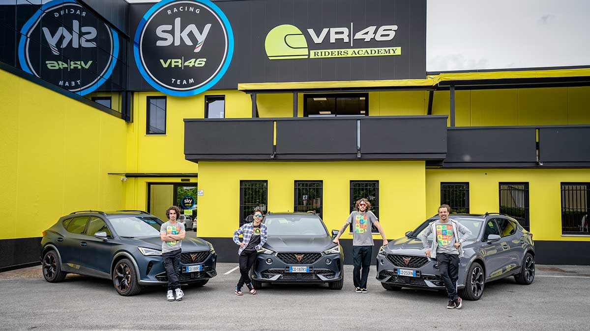 cupra teams up with valentino rossis vr46 riders academy2hq