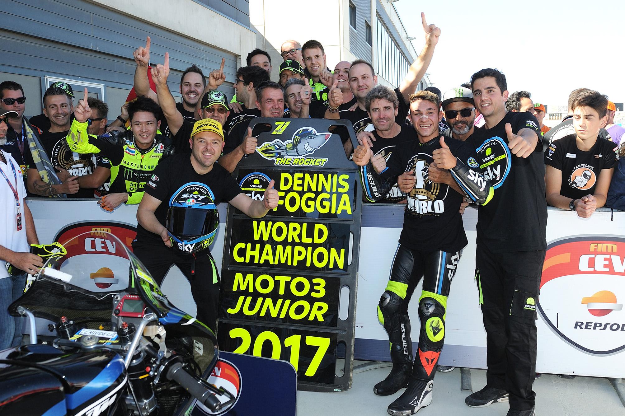 FIM CEV Aragón: Foggia, campeón de Moto3; Granado, muy cerca del título de Moto2