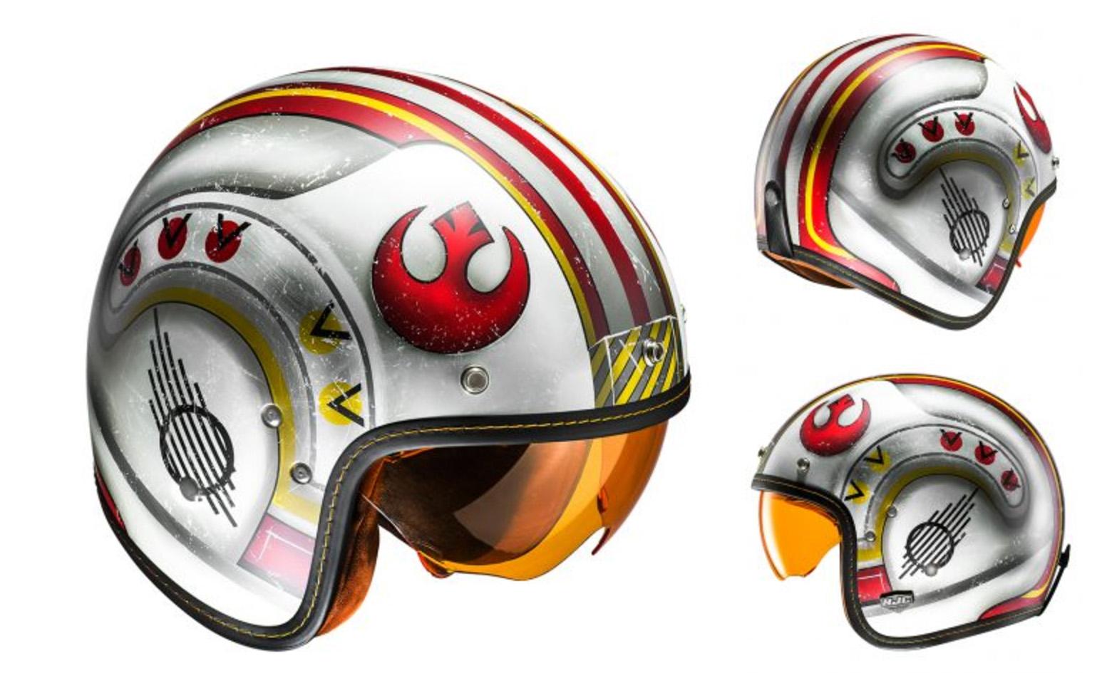 Siéntete como Luke Skywalker con el nuevo casco de moto de HJC