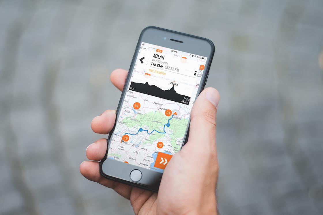 KTM MY RIDE incorpora la navegación a su app para motoristas