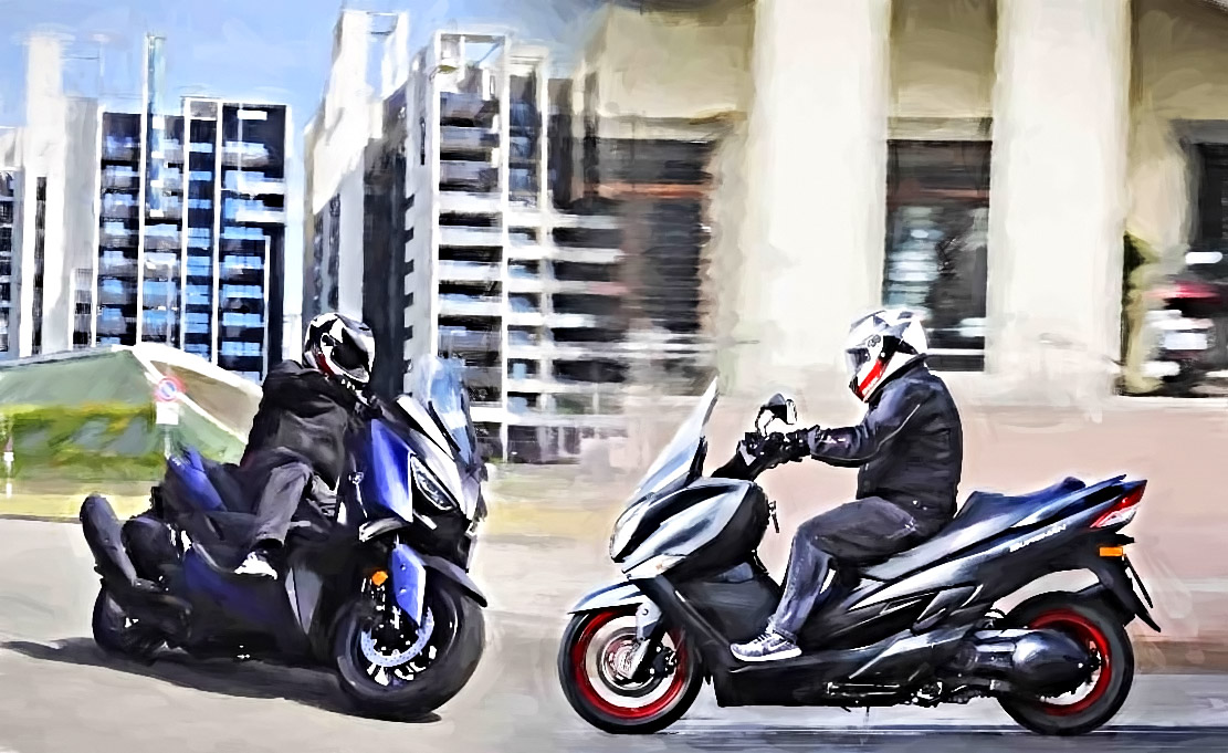 motos enfrenteadas