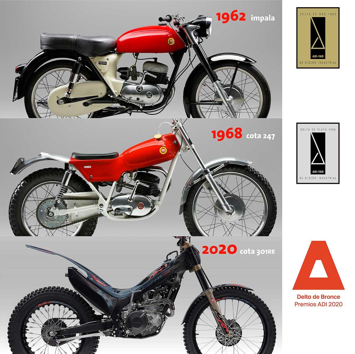 Montesa Cota 301RR: Premio Delta de diseño industrial