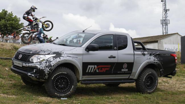 Rodamos con el Fiat Fullback en un circuito del Mundial de Motocross