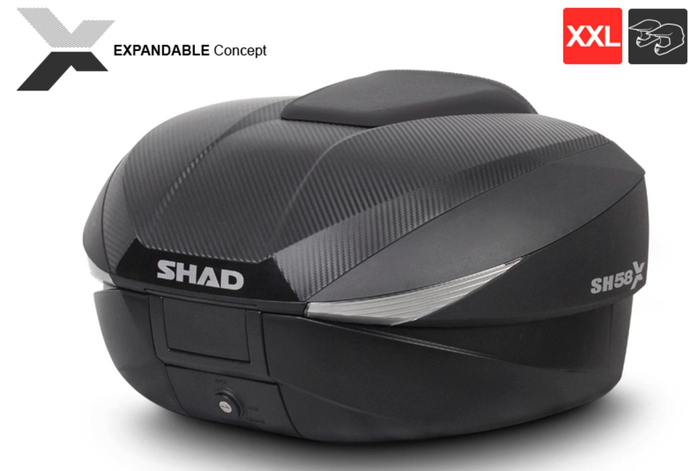 SHAD Expandible SH58X, la maleta que crece según tus necesidades
