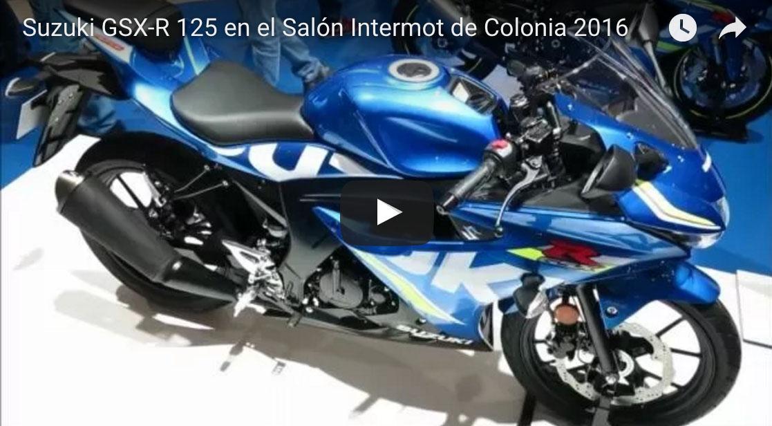 VÍDEO de la Suzuki GSX-R 125 desde INTERMOT 2016