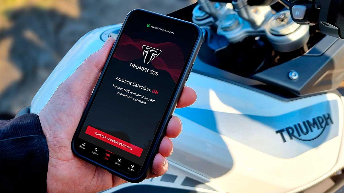Triumph SOS: una app que puede salvar vidas