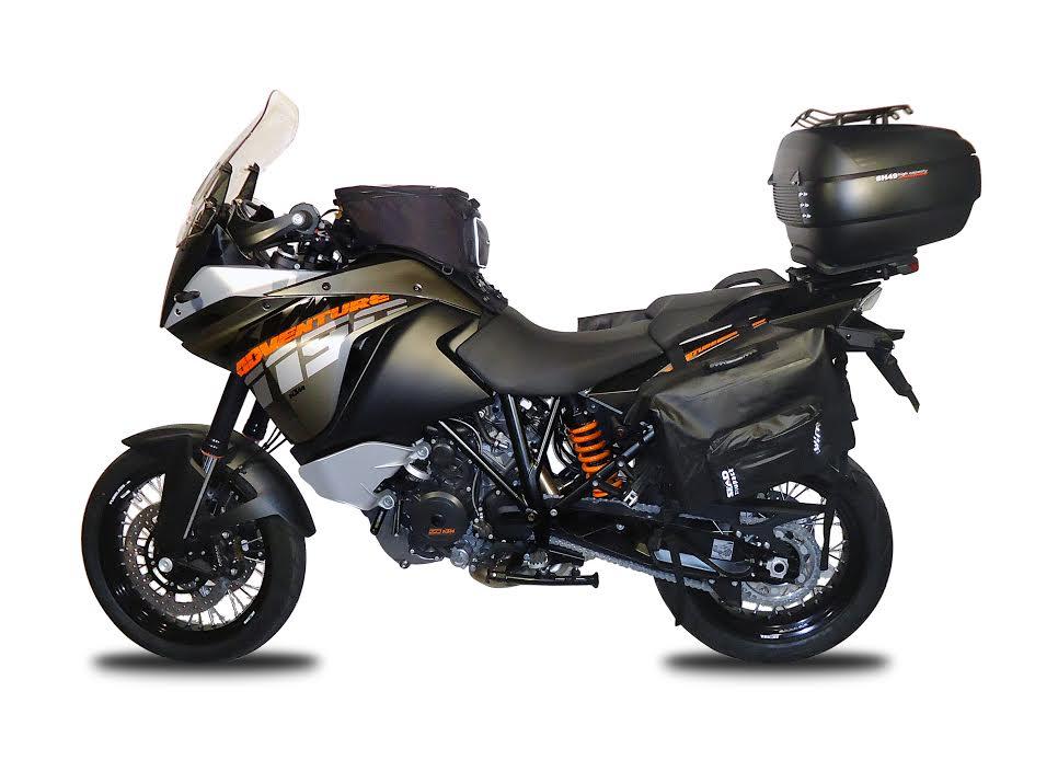 La KTM 1190 Adventure equipada con accesorios SHAD