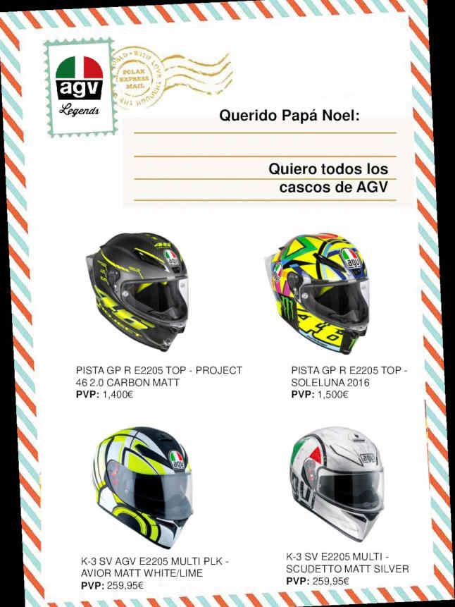 AGV Pista GP R E2205 Top: querido Papá Noel