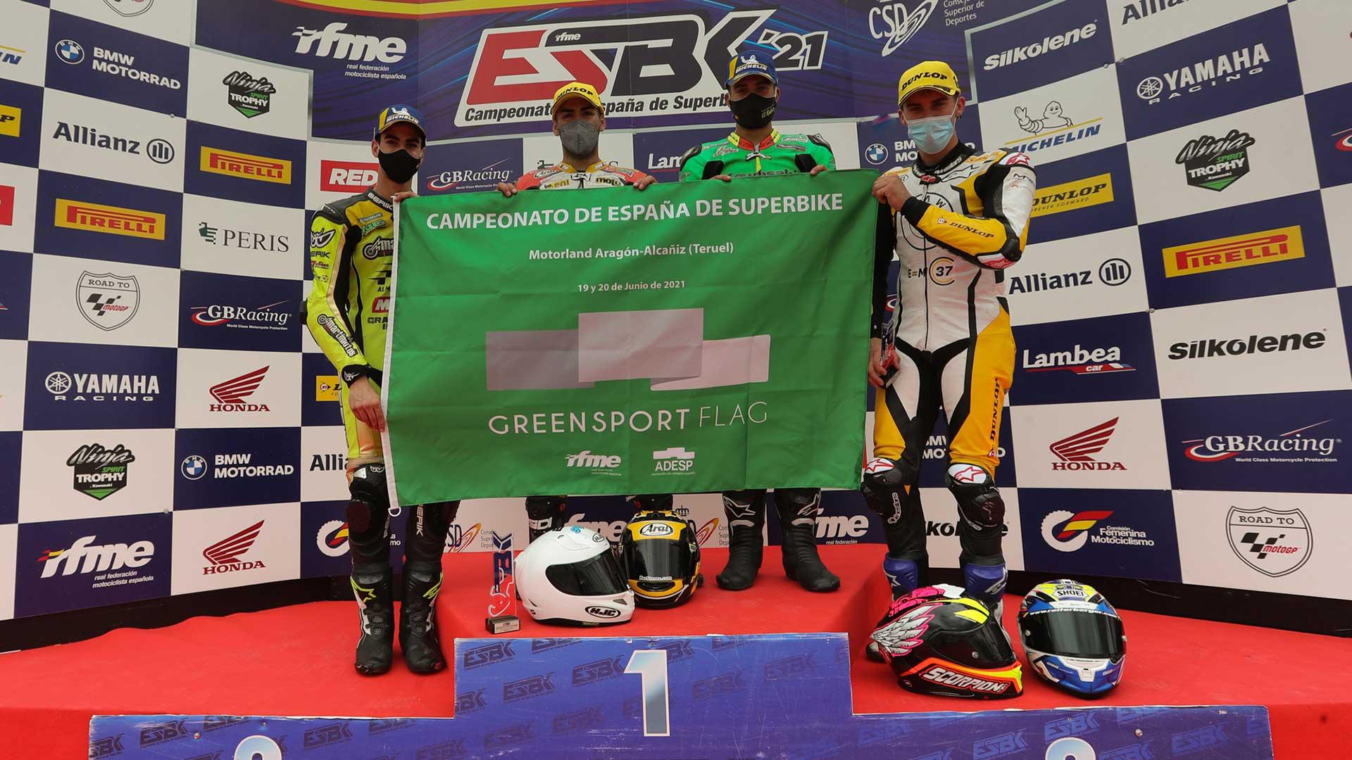 ESBK MotorLand Aragón: primera carrera de Velocidad en recibir la Green Sport Flag