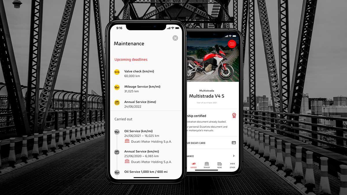 La app MyDucati se renueva con interesantes novedades