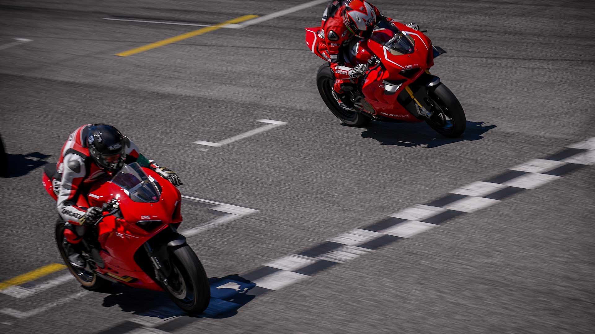 DRE Champs Day: los Ducatistas comparten pista en Misano con los pilotos del WSBK