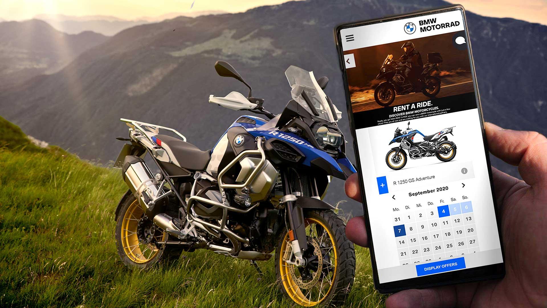 Rent a Ride: el servicio de alquiler de motos de BMW aterriza en España