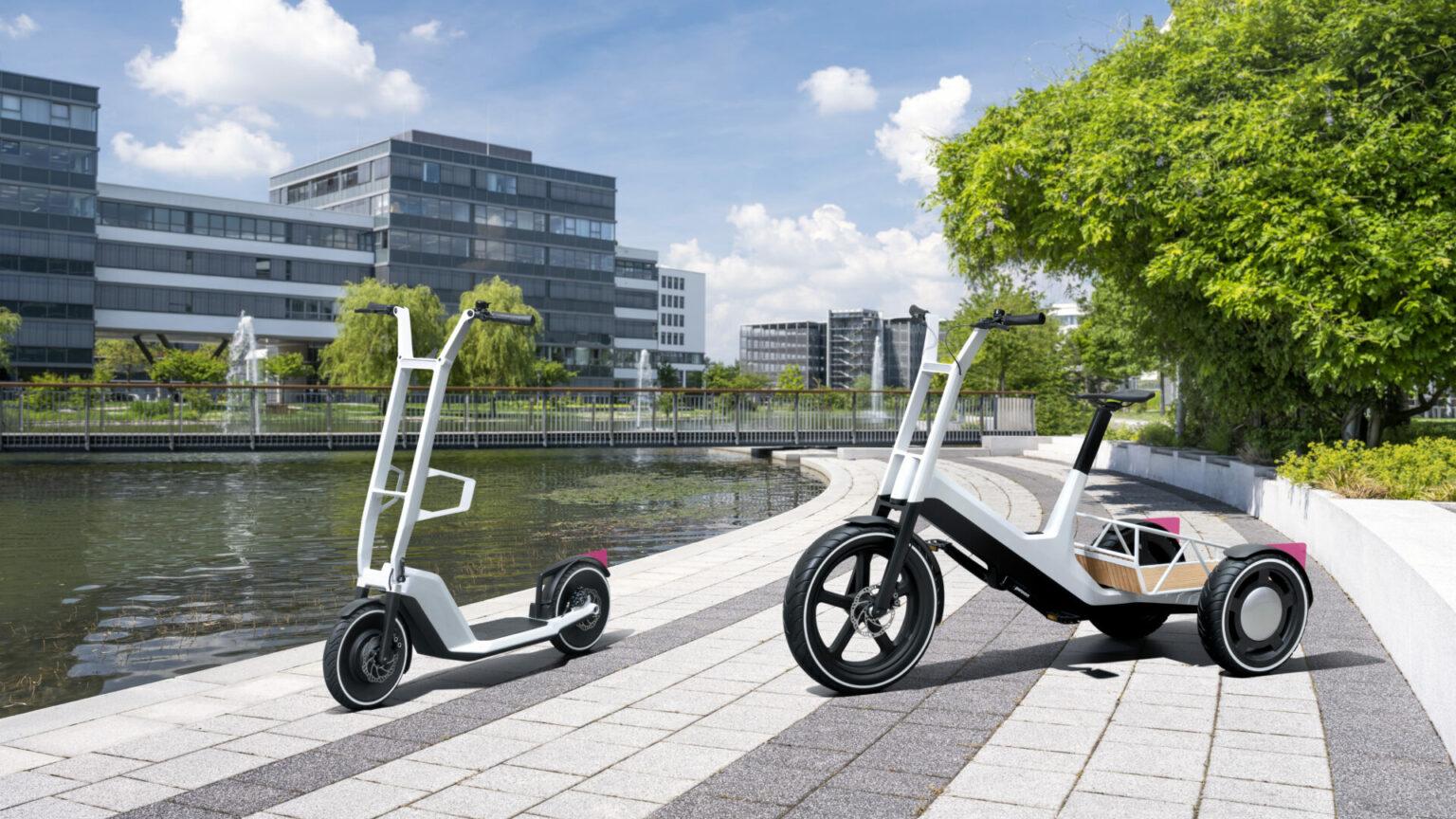 BMW presenta un patinete y una bicicleta de carga, ambos eléctricos