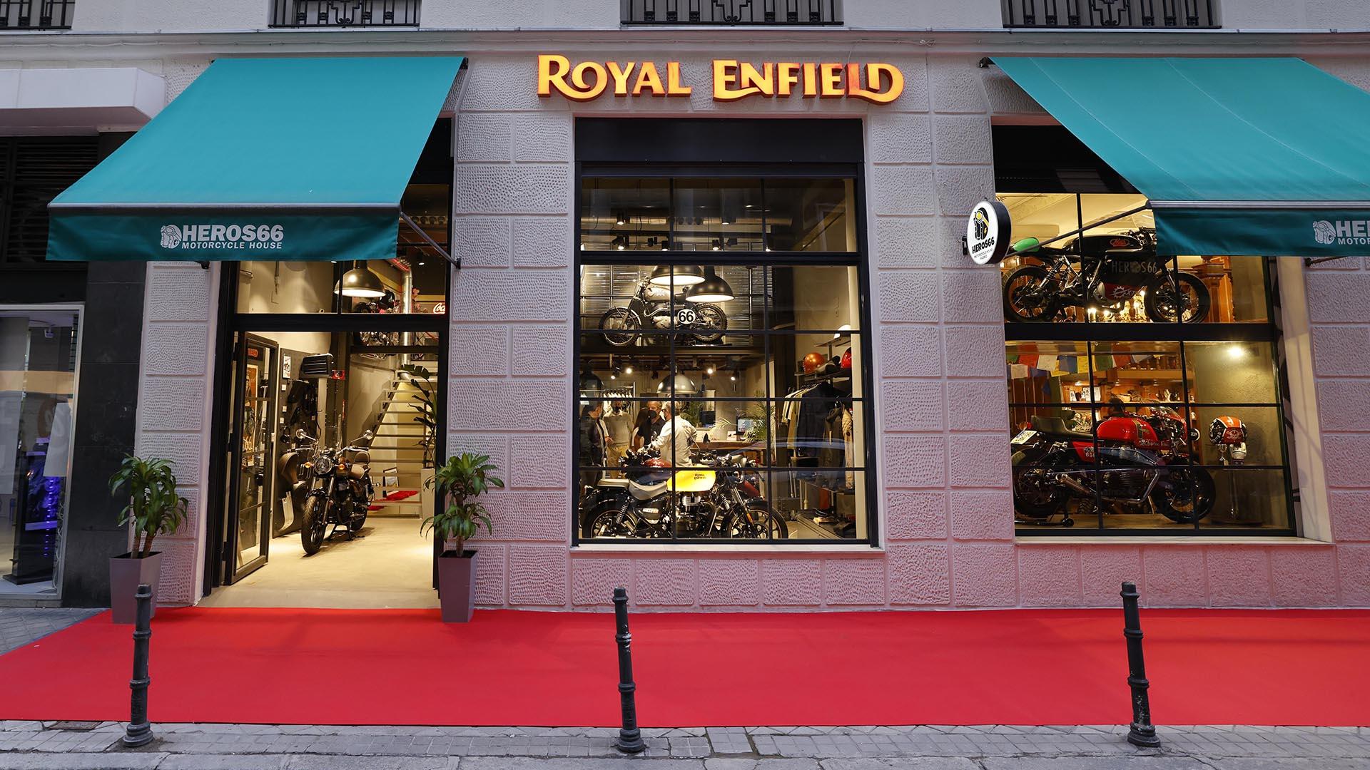 Royal Enfield Heros66, nueva tienda Concept Store en Madrid