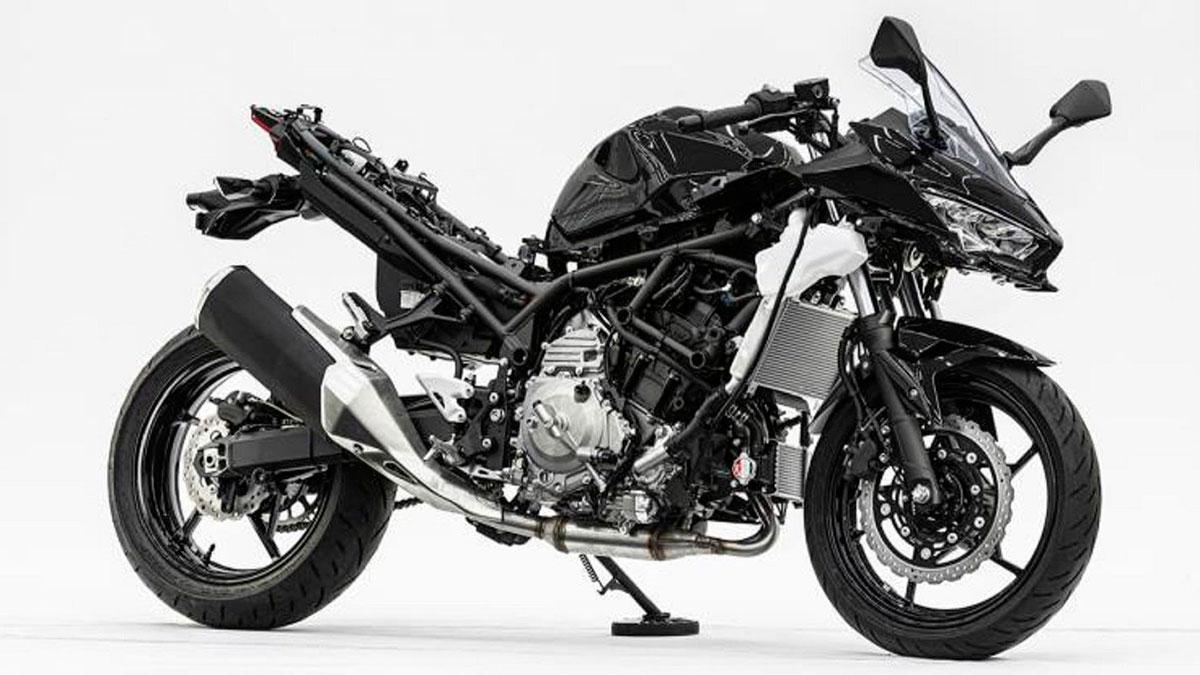Kawasaki trabaja en una moto con un motor híbrido